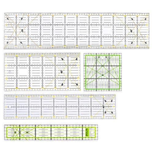 Haven Shop - Set di 5 modelli per trapuntatura, cucito, patchwork, scala, fai da te, fatti a mano, strumenti per la casa