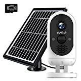VANBAR 1080P Solar Security Camera <span class='highlight'>Outdoor</span>, <span class='highlight'>Wire</span>less CCTV Surveillance Camera with 2-Way Audio, PIR Moti<span class='highlight'>on</span> Detecti<span class='highlight'>on</span>, IP66 Waterproof, Night Visi<span class='highlight'>on</span>, Rechargeable Battery, 32GB SD Card Included