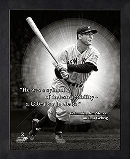 Lou Gehrigニューヨーク・ヤンキースMLB Pro引用符フォト(サイズ: 12cm x 15cm )フレーム