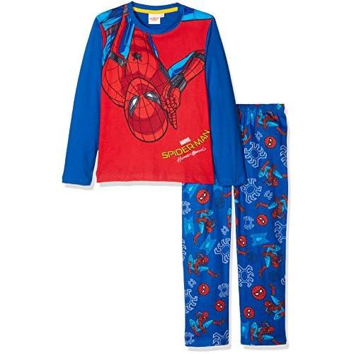 Spiderman 162077 Pigiama, Blu (Bleu), 6 Anni Bambina