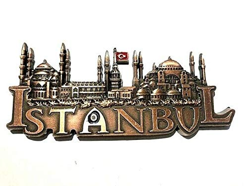 Istanbul,Türkei , Hagia Sophia,Blaue Moschee,Souvenir-Kühlschrankmagnet ,Metall Magnet 100403