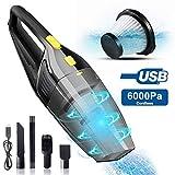 Tokenhigh Aspirateur à Main sans Fil, 120W USB Rechargeable 6000PA Aspirateur...