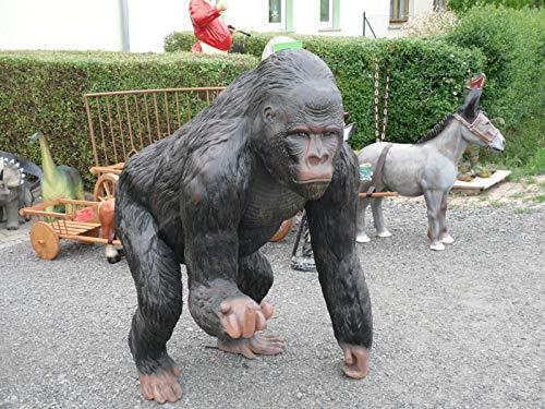Skulpturenparadies24 Gorilla Lustige Dekofigur Groß XXL aus Polyresin Garten Deko Tierfigur Gartendekoration ~LEBENSGROSS~AFFE~