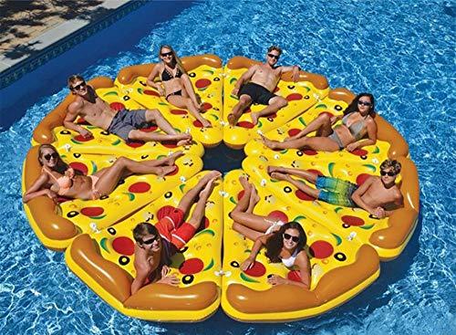 SLONG Pizzastück Aufblasbare schwimmende Reihe | Schwimmbecken Schwimmer
