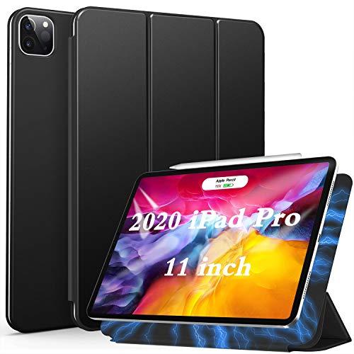 ZtotopCase Funda para iPad Pro 11 Pulgadas 2020, Respaldo magnético Inteligente Smart Cover Auto-Sueño/Estela,Estuche iPad Pro 11 2020, Negro