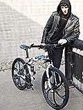 LYhomesick Bicicleta Todoterreno Plegable Bicicletas 24 Pulgadas Freno De Disco Doble Bicicletas Adulto Unisex,Azul,27 * 24'*3