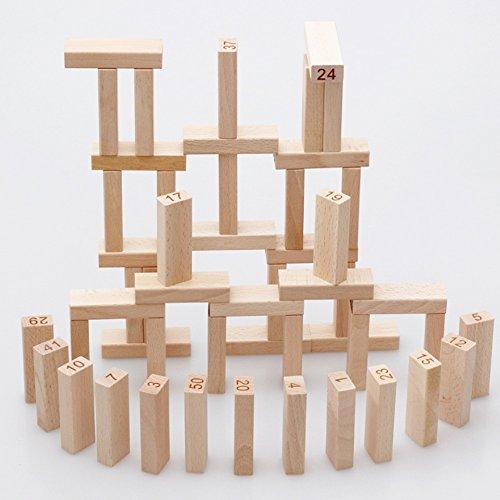 Jouets FEI 51 PCS Logs Blocs de Construction de Couleur Digital Toys pour Enfants