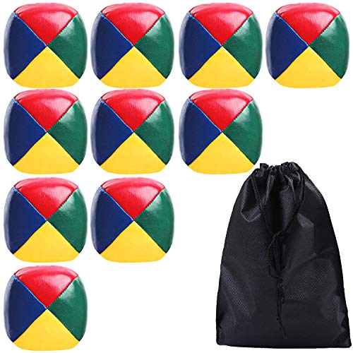 URATOT 10 Pack Juggling Balls Beginners Juggling Balls Durable and Colorful with a Bag for Juggle...