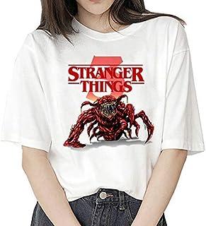 Camiseta Stranger Things Niña, Camiseta Stranger Things Mujer, Impresión T-Shirt Abecedario Camiseta Stranger Things Tempo...
