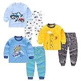 XM-Amigo 3Set/Pack Impression de Dessin animé bébé Garçons Coton Pyjama Bébé Coton Pyjama Four Seasons sous-vêtements Ensembles Enfants