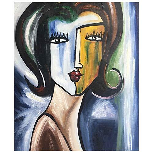 """Legendarte C-78 Cuadro Cara de Mujer. Pintura Pintada a Mano. Ã""""leo sobre Lienzo, 50x60"""