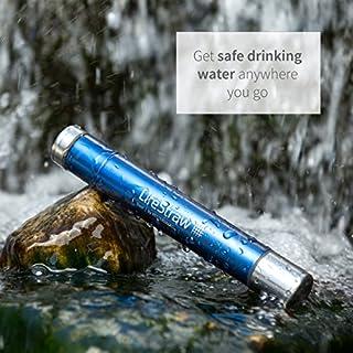 عروض LifeStraw Steel Personal Water Filter with 2 Stage Carbon Filtration for Hiking, Camping, Travel and Emergency Preparedness