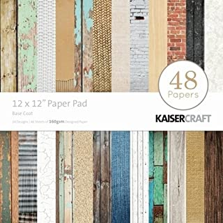 Kaisercraft Paper Pad 12 by 12-Inch, Base Coat, 48-Pack