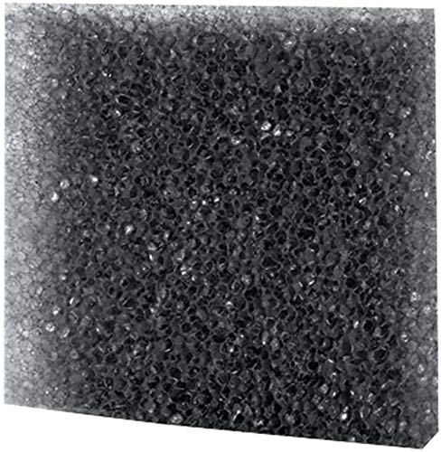 Dohse Aquaristik Hobby Filterschaum Filterschwamm Filtermatte schwarz grob 50 cm x 50 cm x 2 cm, 10 ppi