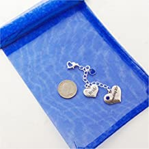 Bride's Garter Charm, Something Blue, with REAL SIXPENCE, wedding,shower,bridal jewelry gift