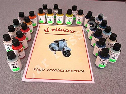 1 VERNICE RITOCCO SMALTO PIAGGIO VESPA D'EPOCA 30ml colori come ORIGINALI 30 colori disponibili