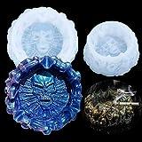 Molde de resina de cráneo en 3D Ágata de cristal epoxi de fundición de silicona molde para hacer joyas molde para decoración de Halloween manualidades DIY regalo