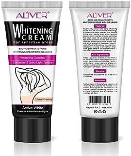 Underarm Whitening Cream, Body Creams for Sensitive Areas, Skin Lightening Cream & Natural Whitening Deodorant Cream for Dark Skin & Private Areas Repair,Armpit, Elbow, Neck