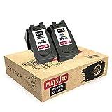 Matsuro Original | Compatible Remanufactured Cartuchos de Tinta Reemplazo para Canon PG-510XL CL-511XL PG-510 CL-511 (1 Set)