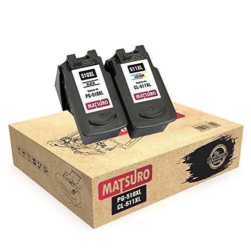 Matsuro Originale | Compatibili Remanufactured Cartucce Sostituire Per CANON PG-510XL CL-511XL PG-510 CL-511 (1 SET)