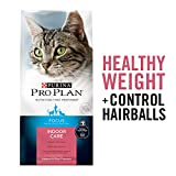 Purina Pro Plan Hairball, Healthy Weight, Indoor Dry Cat Food, FOCUS Indoor Care Salmon & Rice Formula - 3.5 lb. Bag