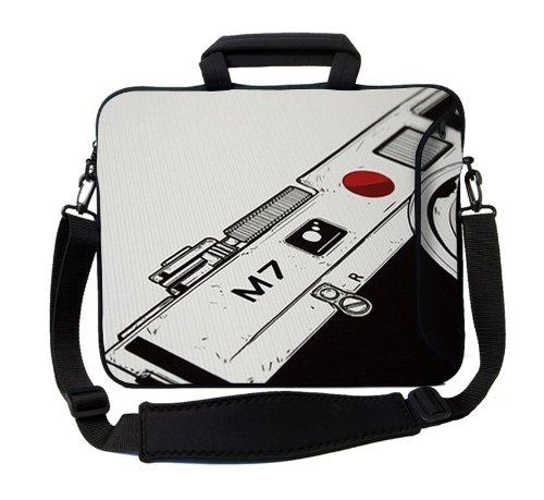 MySleeveDesign Notebook Carry Bag Laptop Neoprene Case with Shoulder Strap 17 - 17.3 Inch - SEVERAL DESIGNS - Camera