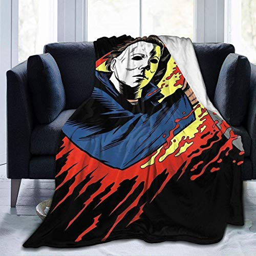 maichengxuan Halloween Michael-Myers Flannel Fleece Blanket Lightweight Super Soft Warm Cozy Throw Blanket Home Decor for Couch, Bed, Sofa, Travel 50' X40