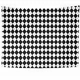 Tapices para colgar en la pared Azulejo Pierrot Cuadros negros Chevron Patrón blanco Suéter Periódico Circo Payaso Texturas abstractas Tapiz Manta de pared Decoración para el hogar Sala de estar Dormi
