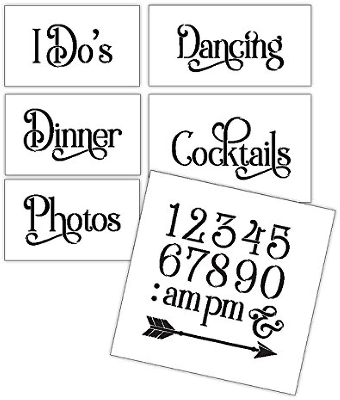 Hochzeit Schablone Words – Fun Stuff – Traditionell Elegant 6 6 6 Jumbo Set – stcl1599 _ 4 von studior12 B077G8MNTH     | Niedriger Preis und gute Qualität  88d779