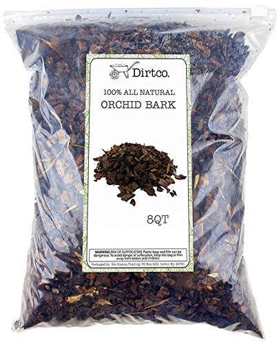 100% Organic Material All Natural Orchid Bark, Long Lasting All Natural, High Flowering and Aeration...