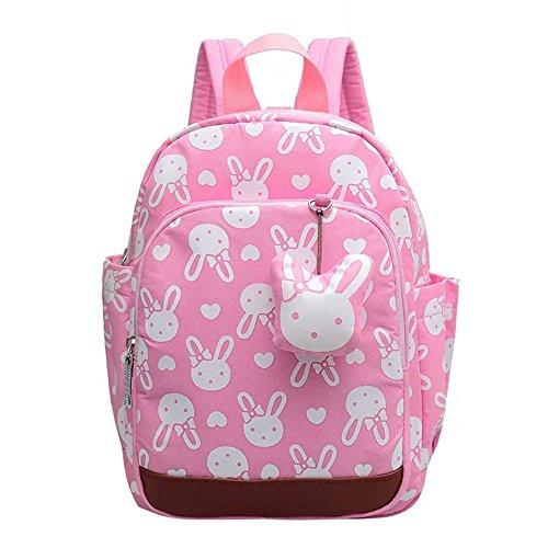 Naerde coniglio animali carino zaino bella zaino libro zaino bambini bambino ragazze scuola borsa rosa