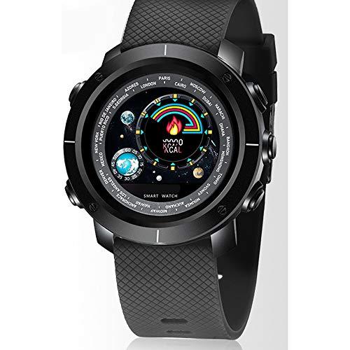 Qi Tai- Smart Sport Horloge Heren Hartslagmeting Stappenteller Hardlopen Waterdichte Zwarte Technologie Horloge Elektronische Horloge Multifunctionele Mannen en Vrouwen Armband @ (Kleur : J)