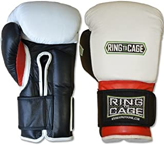 Ring to Cage Deluxe MiM-Foam Sparring Boxing Gloves - Safety Strap Boxing Training Gloves, for Boxing, MMA, Muay Thai, Kickboxing