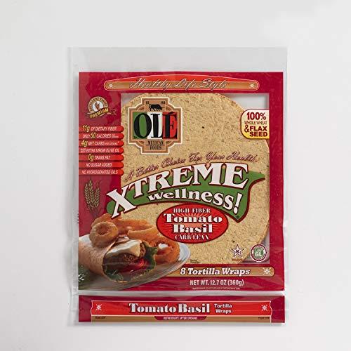 Ole Xtreme Wellness Tomato & Basil Flour Tortilla Wraps | 8