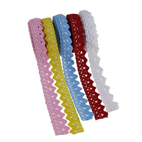 Handwerk selbstklebende Spitze Band dekorative klebrige Spitze Randstreifen Stoff Baumwollband 10 Meter für Scrapbooking Kartenherstellung