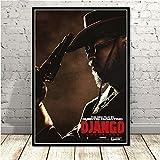 H/L Carteles E Impresiones WP Tarantino Django Unch Película Clásica Pintura De Arte Vintage Cuadros De Pared para Sala De Estar Decoración del Hogar 50X70 Cm (Ti-2580)
