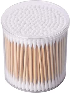 PandaHome, 200 ct Cotton Swabs, Double Tipped Cotton Connect with 2.9