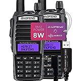 Pack 2Pc Mirkit Radio BAOFENG UV-82 Handheld MK5 8 Watt Max Power with Programming Cable