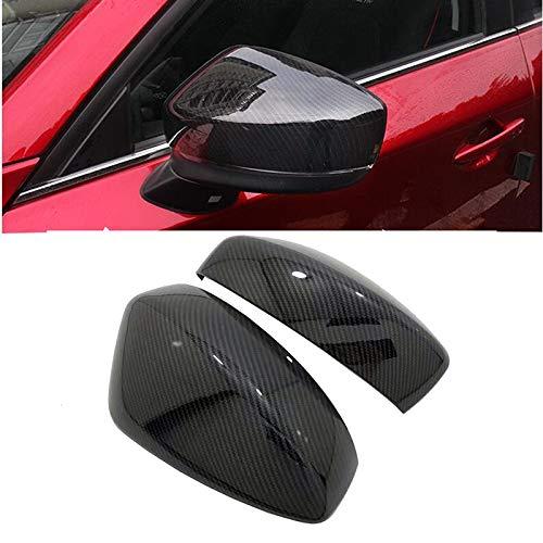 HUANGRONG Cubierta del Espejo retrovisor del Coche Espejo Lateral Espejo de Fibra de Carbono Vista Trasera Tapa Trasera Taps Trim Cubiertas de automóviles Estilo para Mazda CX-5 CX5 2017 2018 KF