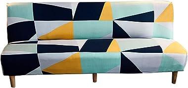 C/N Housse canapé clic clac Housse de canapé-lit sans Bras Housse de futon Housse de canapé Extensible sans Bras