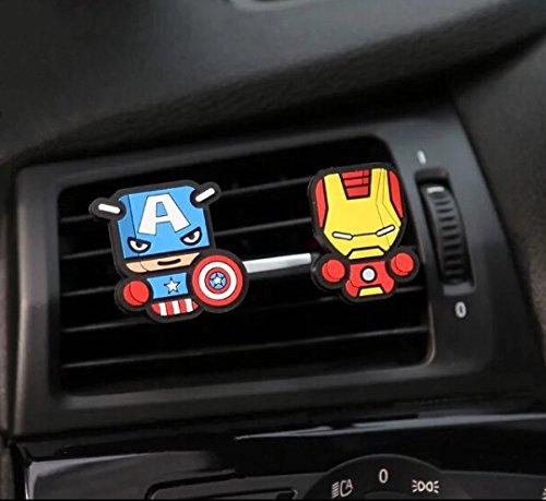 Kfz-Lufterfrischer, 2 Stück, in witzigen Comic-/TV-Serien-Designs - Verändert ein langweiliges Auto in ein cooles Auto in 60Sekunden