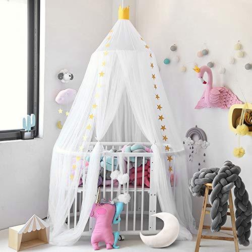 laami Mosquitera de Dosel para Camas Infantiles con Cúpula Redonda Princesa Mosquitera Decoración o Protección Ante Insectos para Niños (60cmx240cm)