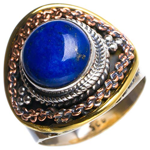 Natural Lapis Lazuli Handmade Unique 925 Sterling Silver Ring P Y4913