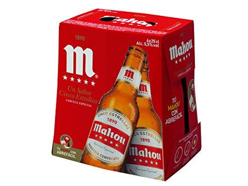 Mahou Cerveza - Paquete de 6 x 250 ml - Total: 1500 ml