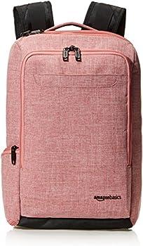 AmazonBasics Slim Carry On Travel Backpack (Salmon)