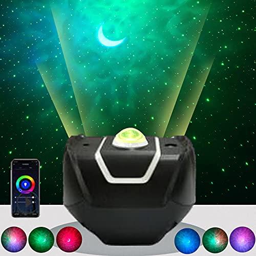 Proyector Estrellas Galaxia Alexa Lámpara Proyector Luz Nocturna Infantil Galaxy Espacio Lampara de Proyeccion Cielo Estrellado Temporización Remoto Planetario Regalos Niños Adultos Navidad,Negro