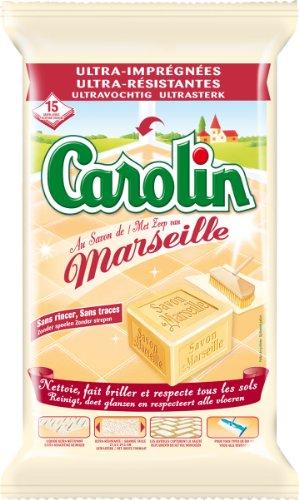 Carolin Serpillières ultra-imprégnées au savon de Marseille - Le sachet de 15