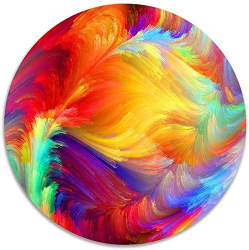Bernice Winifred Tappeti Antiscivolo in Velluto Color Corallo Colore Misto Tappetini in Memory Foam Tappetino per Camera da Letto Diametro Tappetino per Sedia da Yoga Zerbino