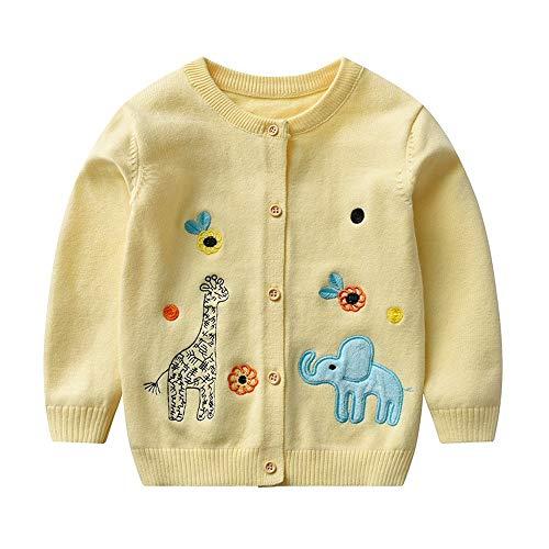 100% algodón Cardigan para 1-6 años bebé niña lindo suéter de dibujos animados ropa niño suéter Cardigan chaqueta Cardigan Cardigan para niña