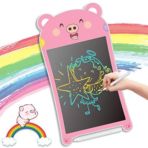 GUYUCOM Tableta de Escritura LCD, Tablero de Dibujo Electrónico de 8.5 Pulgadas,Tablero de Escritura Colorido Mejorado con lápiz,Juguetes Educativos de Aprendizaje y Regalos para niños niñas (Cerdo